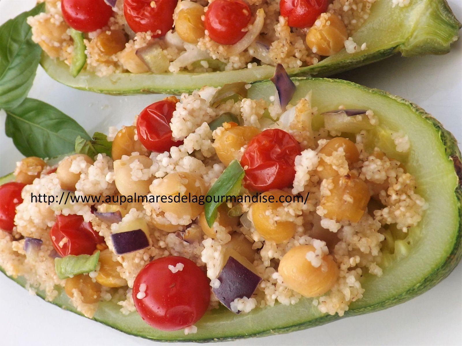 Courgette farcie à la semoule et aux légumes * IG Bas *Healthy* Hygge*Comfort Food * Vegétarien*