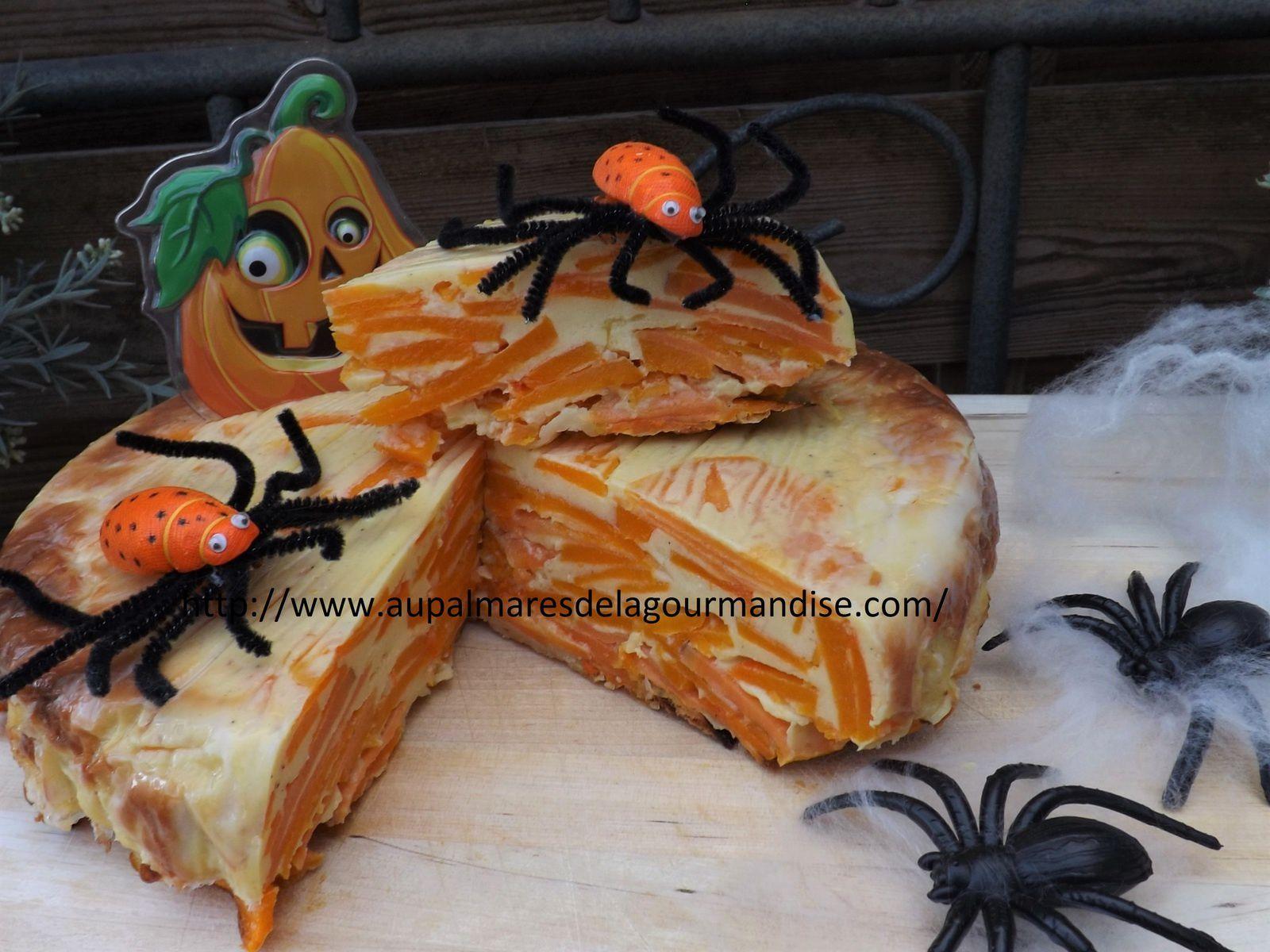 Gâteau Invisible à la courge butternut,patates douces,parmesan pour Halowween!   Fiberpasta