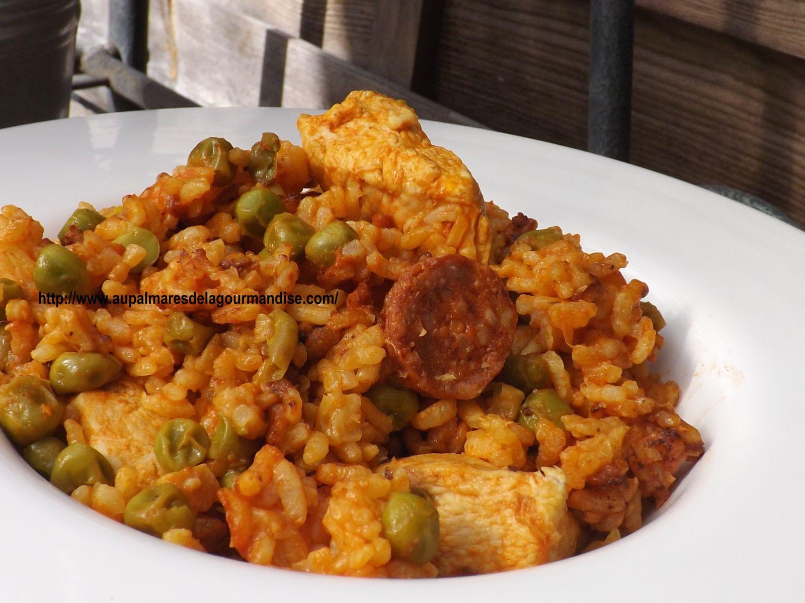 Riz façon paella, ou riz à l'espagnol   au Cookéo   WW