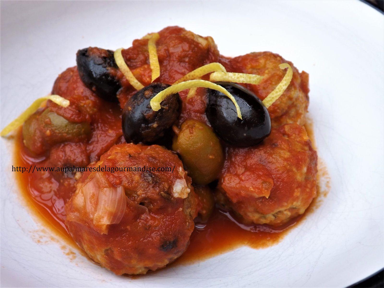 Boulettes de viande ou polpettes à la tomate comme en Italie  Ig Bas et WW