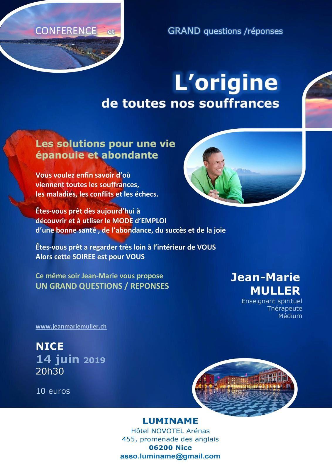 """14 juin : """"L'origine de toutes nos souffrances"""" par Jean-Marie MULLER"""