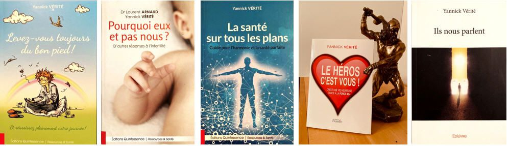 LES DIFFERENTS LIVRES DE YANNICK VERITE