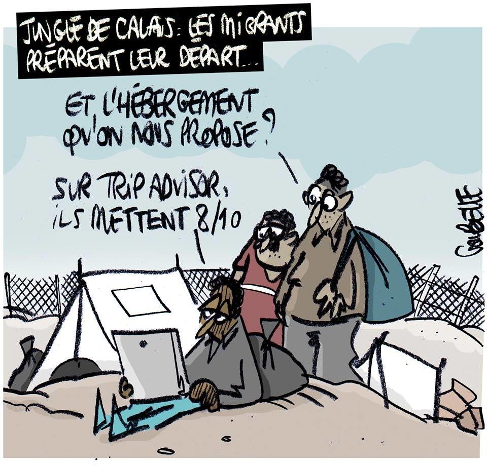 Jungle de #Calais : les migrants préparent leur départ !