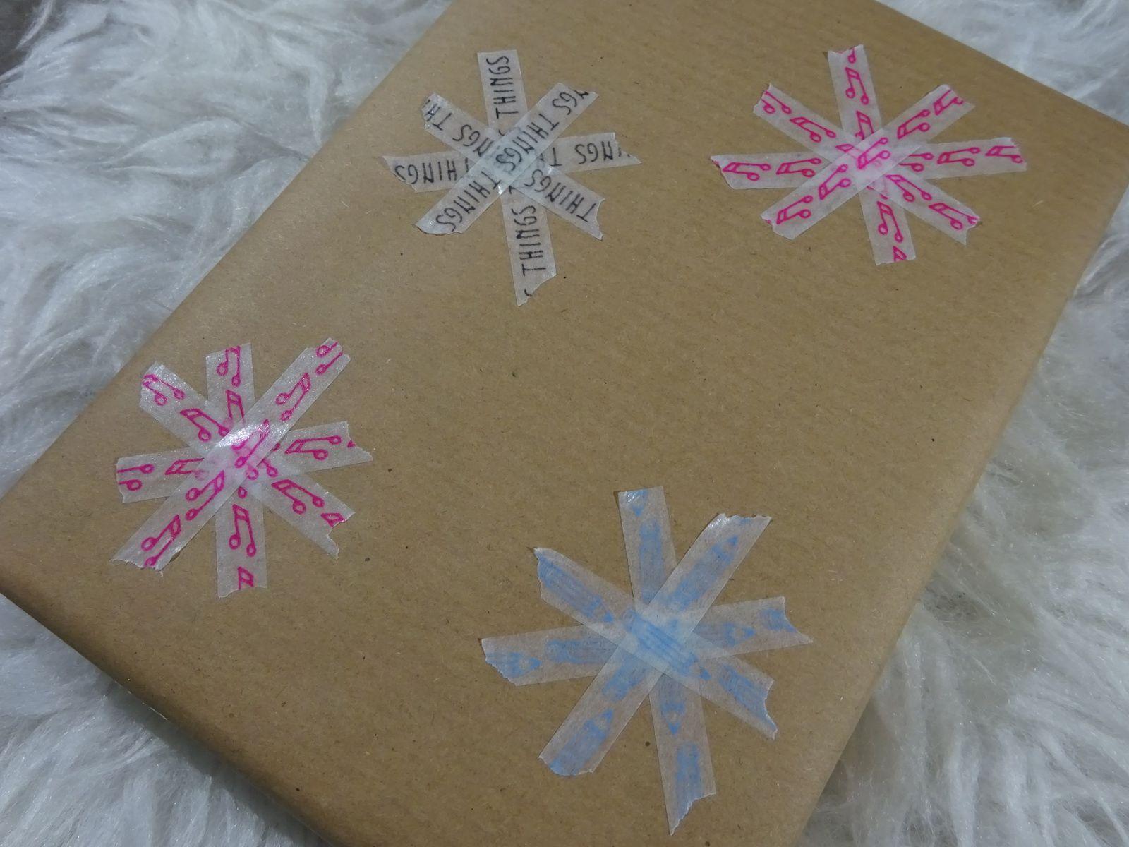 Schneeflocken aus dünnem Washi-Tape