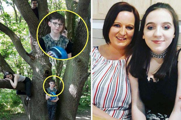 Une maman découvre une mystérieuse apparition sur une photo de famille