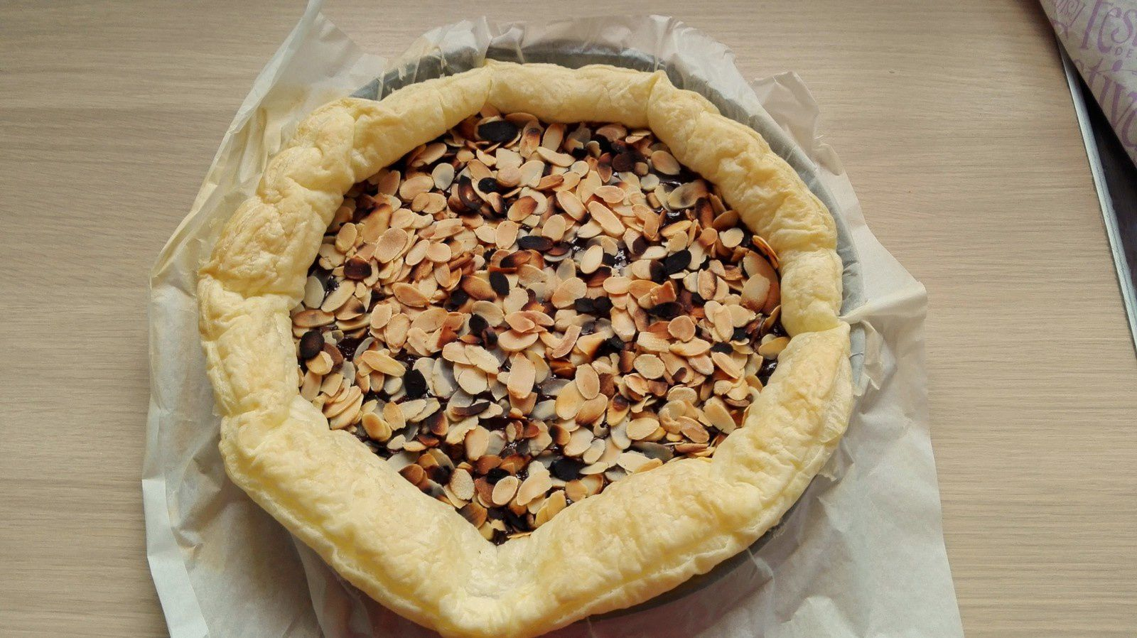 Goûter pour les petits et grands : tarte chocolat/amandes