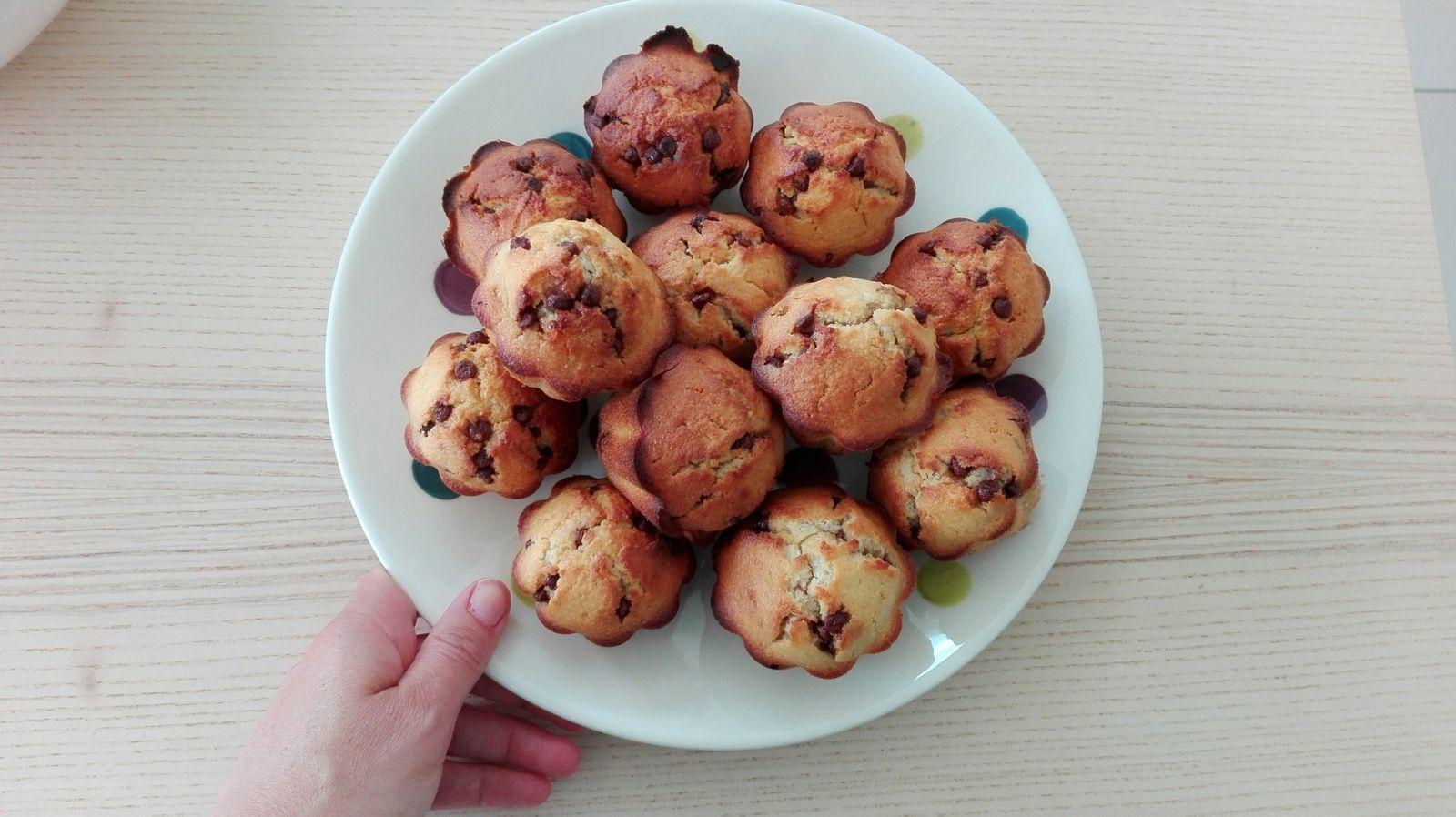 Pâtisserie round 1 : muffins aux pépites de chocolat