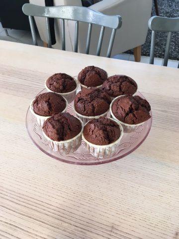 Muffins au chocolat pour le goûter