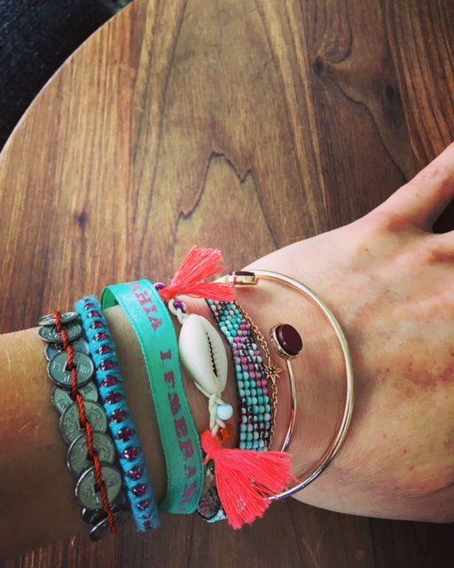 Nouveau bracelet, Merci Julie du blog Mamafunky