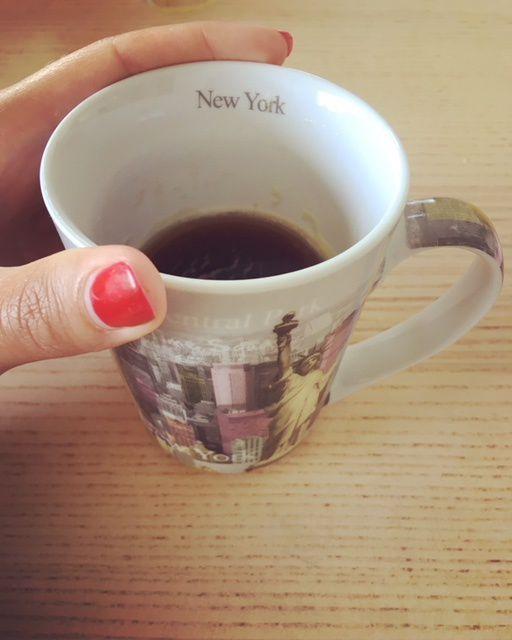 Un petit café sans enfants le matin...