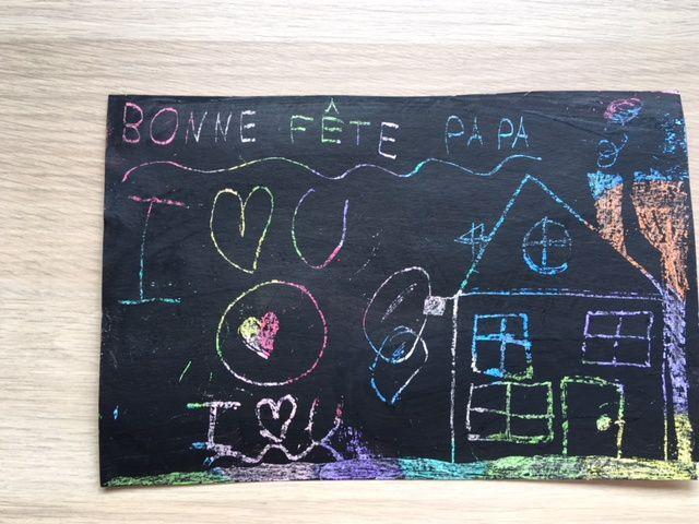 La carte réalisée par Loulou pour son papa