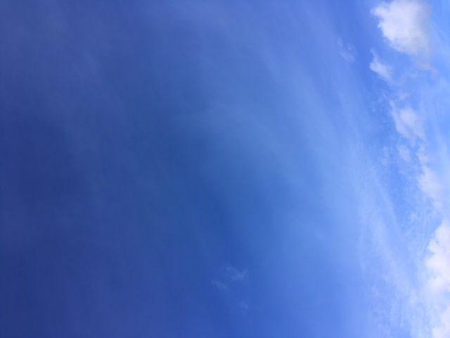 Un ciel bleu une fois dans la semaine...