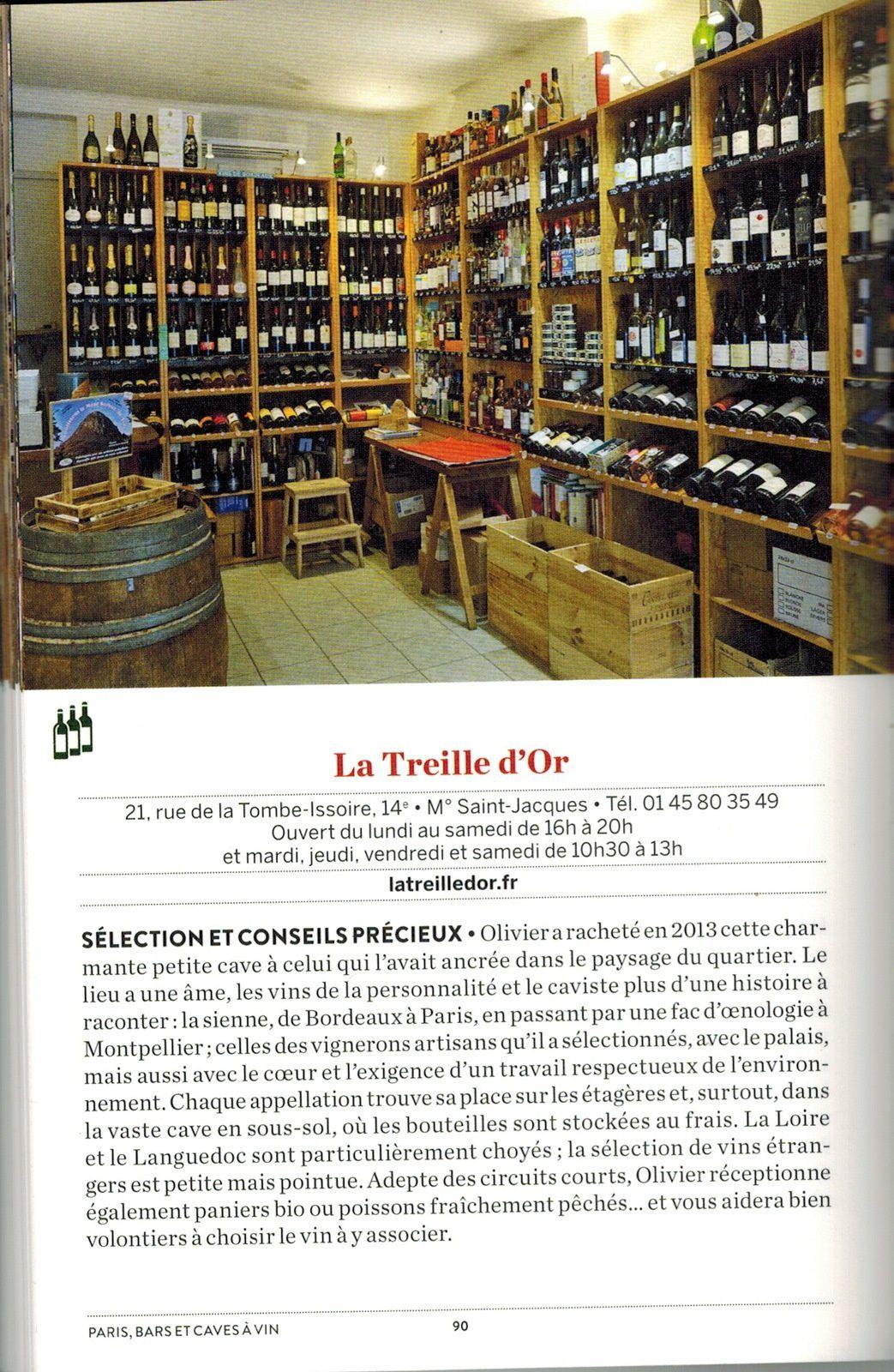 Page 90, Paris bars et caves à vins, 100 lieux pour découvrir et déguster les meilleurs crus, de Christine Bokobza, éditions Parigramme, 11 avril 2019.