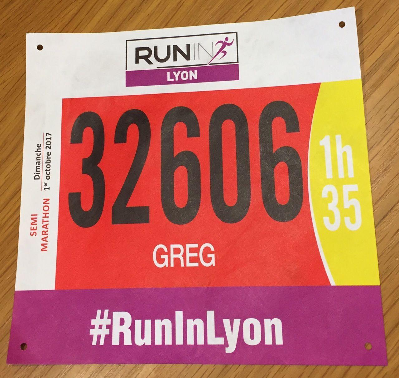 Run in Lyon - Semi marathon