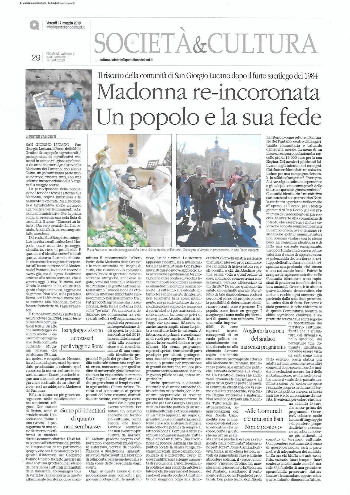 Il Quotidiano del Sud 17/05/2019