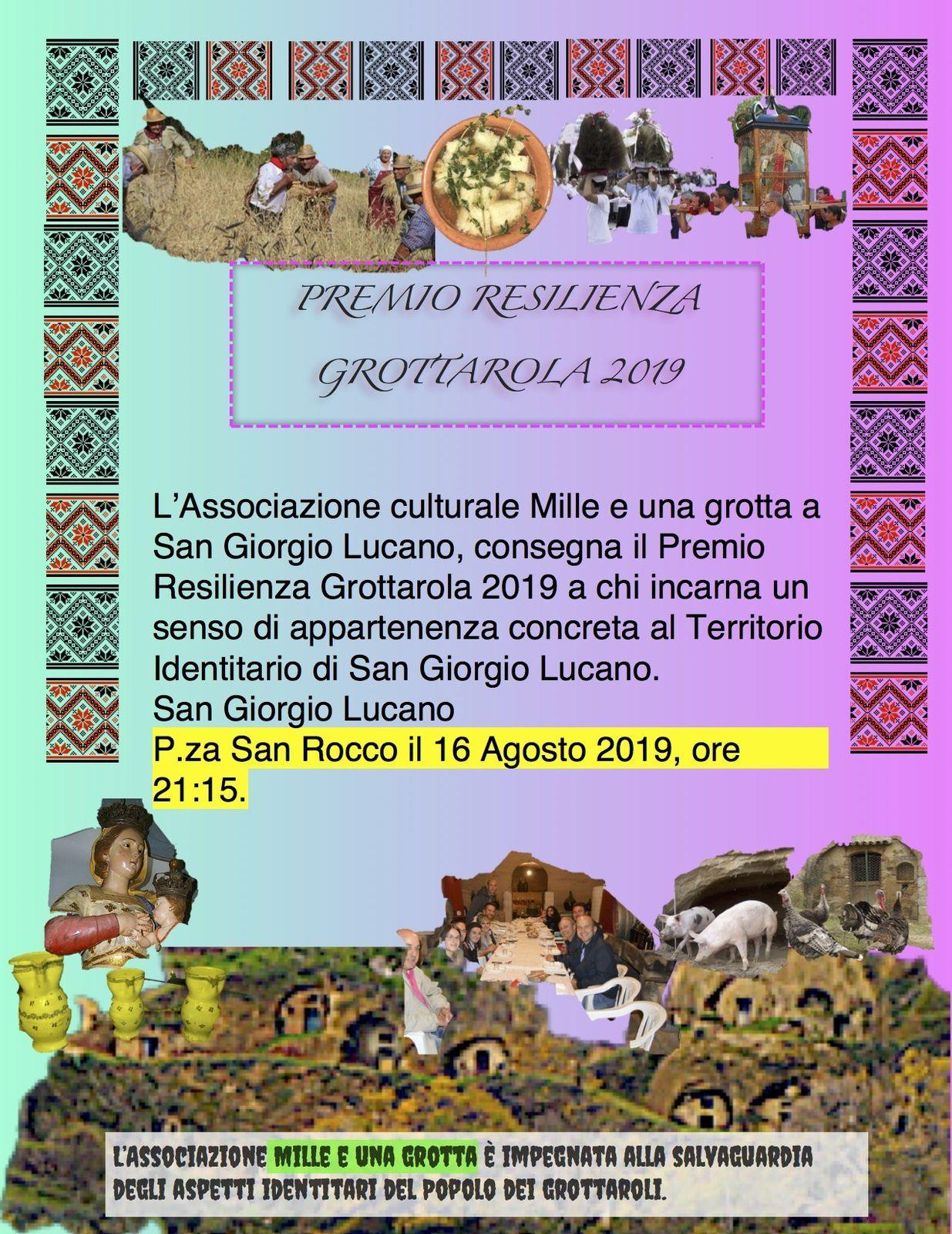 Premio Resilienza Grottarola 2019