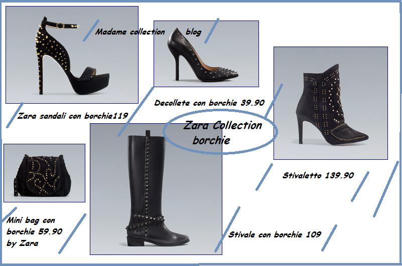 Zara abbigliamento: scarpe, borse e stivali con borchie