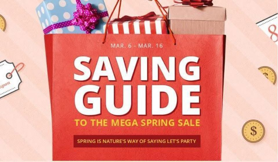 To the mega spring sale