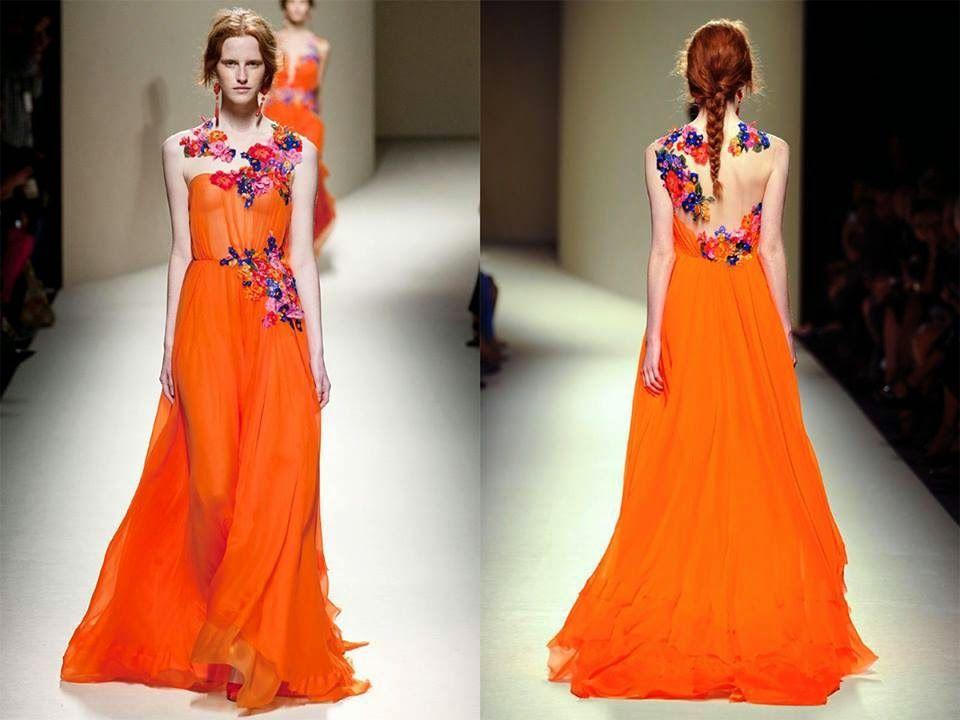 L'arancione: il colore della positività sposa anche gli abiti da cerimonia