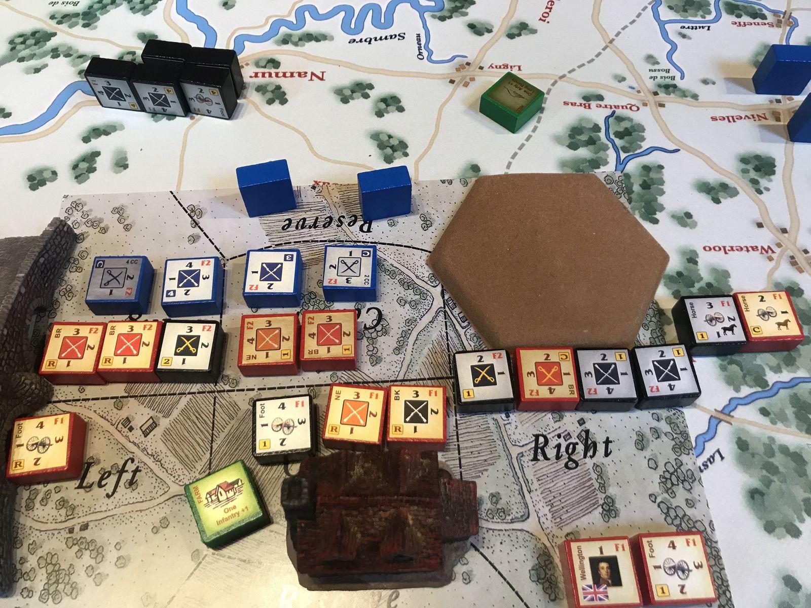 dès le deuxième tour des troupes alliés anéantissent les espoirs Français, il faut dire à 4 contre 1 ...