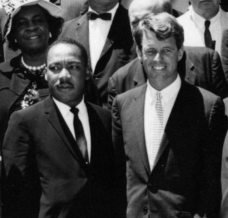 Martin Luther King et Robert Francis Kennedy