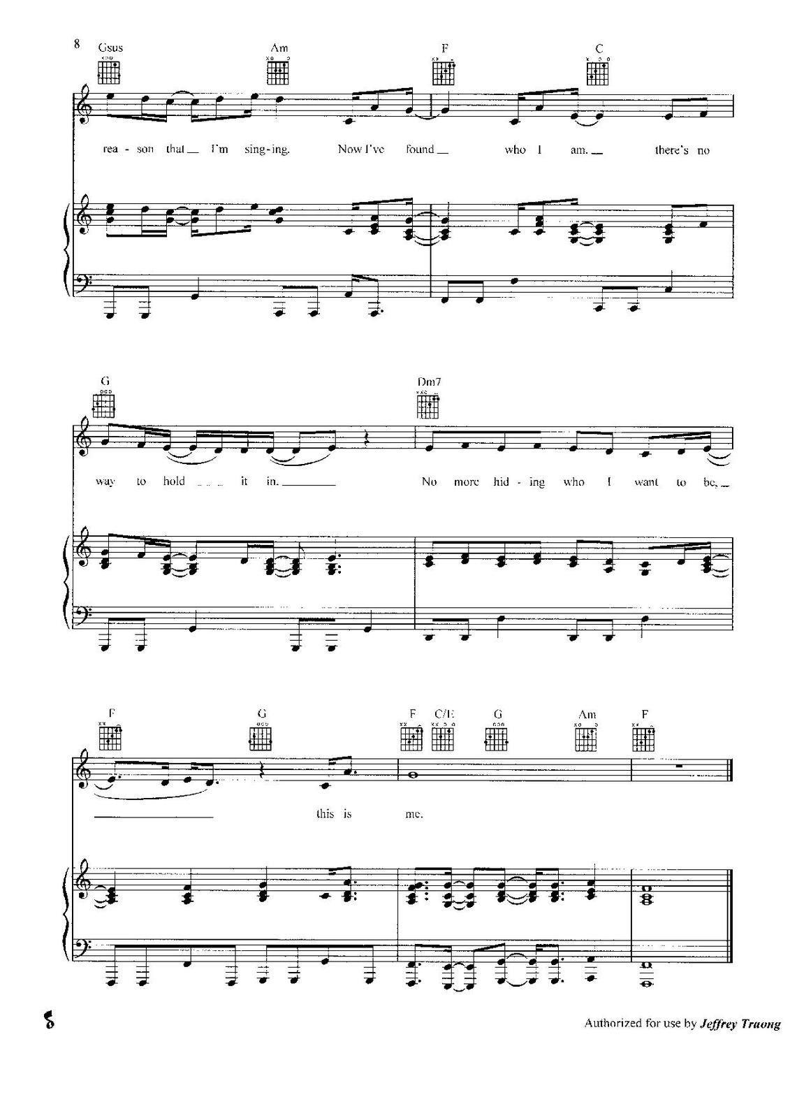 "Partitura para Piano ""This Is Me"" | Demi Lovato"