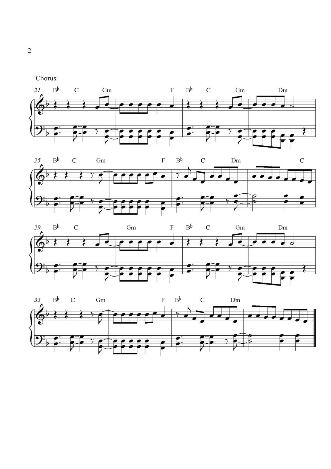 "Partitura Para Piano ""Evacuate The Dance Floor"" 