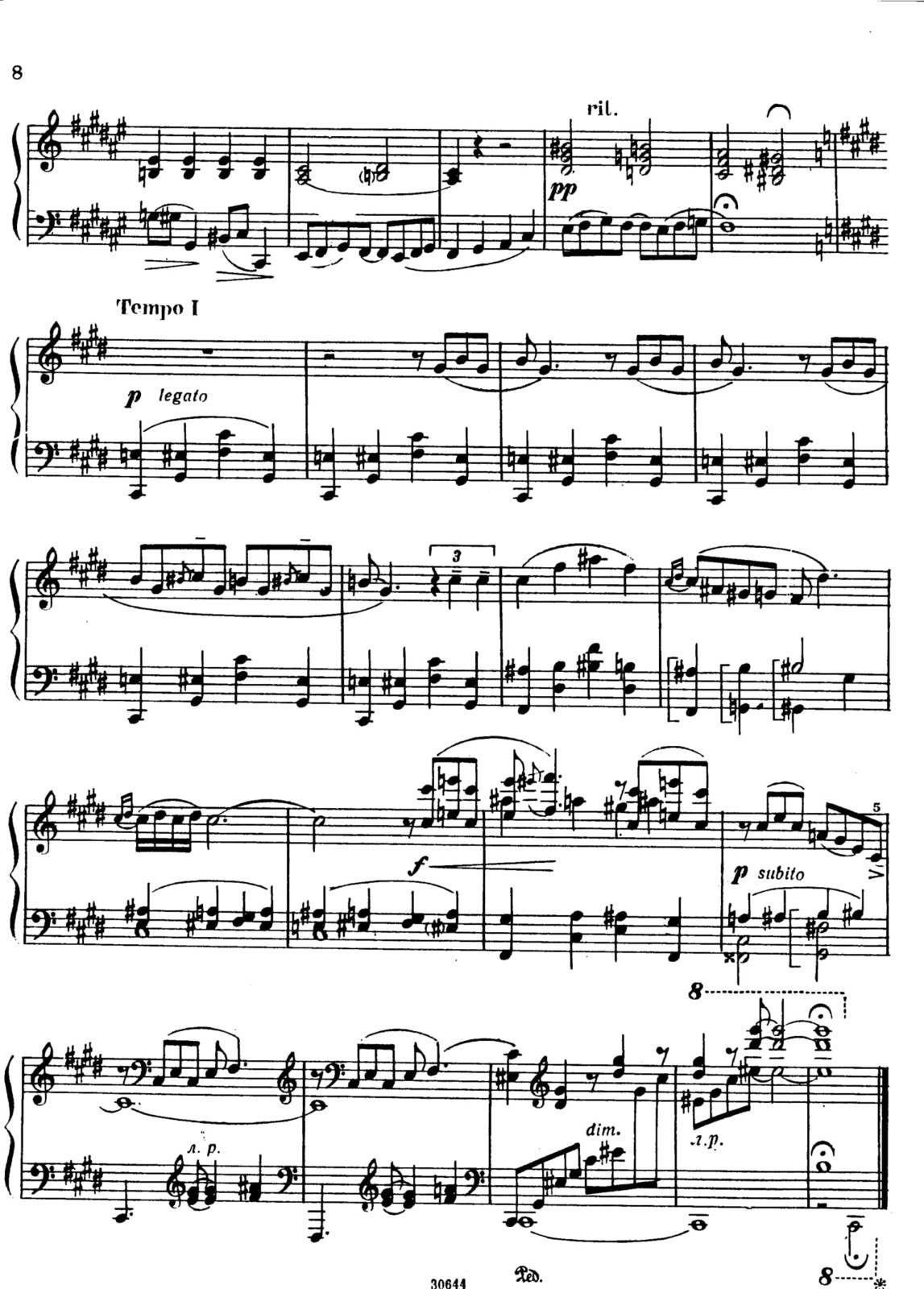 "Partitura Para Piano""Preludios"" |Gershwin"