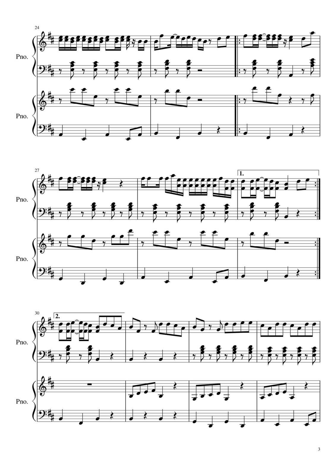 "Partitura para Piano ""Sin Pijama""| Becky G & Natti Natasha"