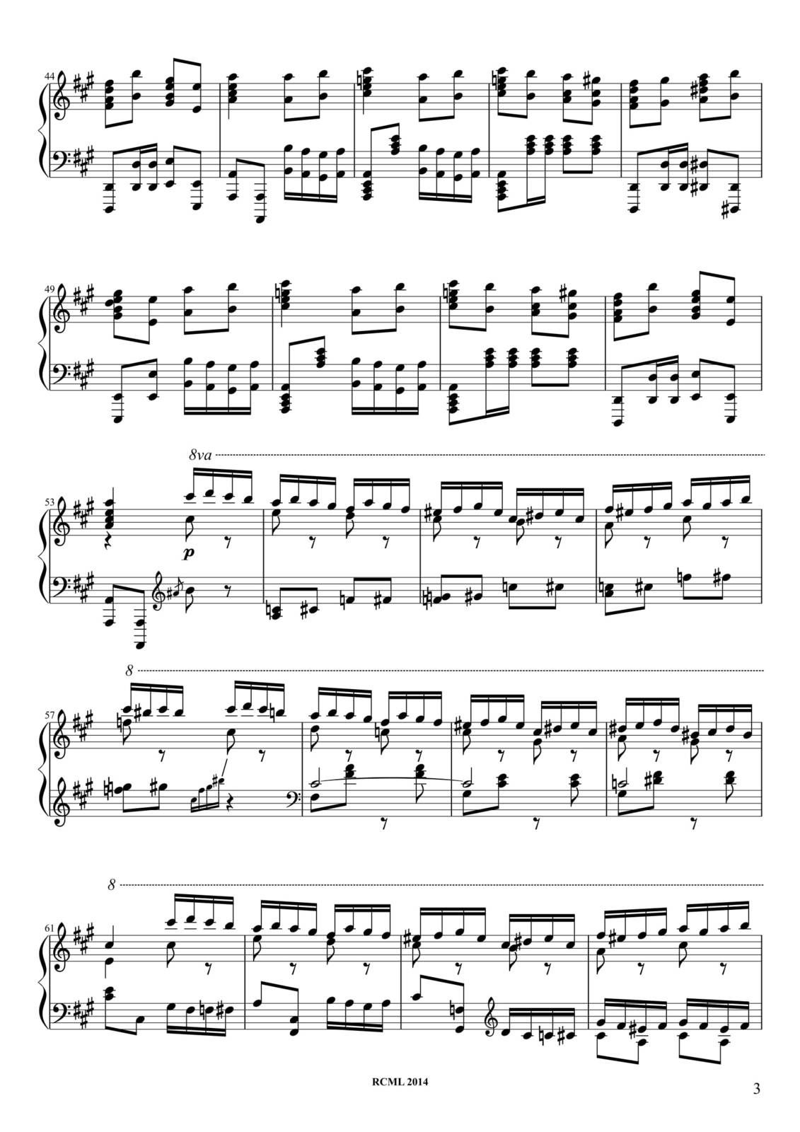"Partitura Para Piano ""Marcha Turca"" (Turkish March) 