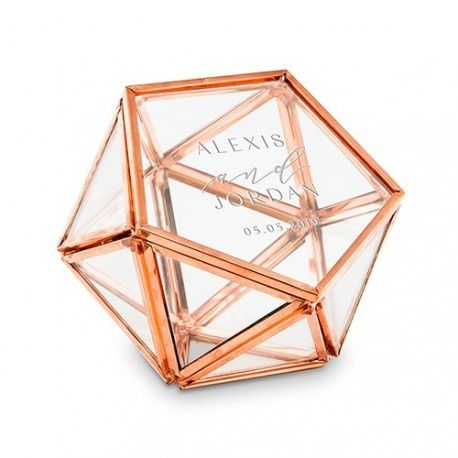 Terrarium porte alliances rose gold cuivre