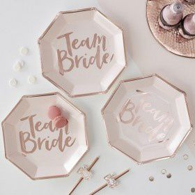 Assiettes jetables Team Bride