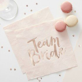Les serviettes Team Bride