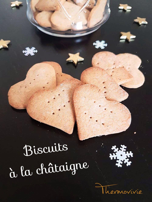 Biscuits à la châtaigne, recette au Thermomix