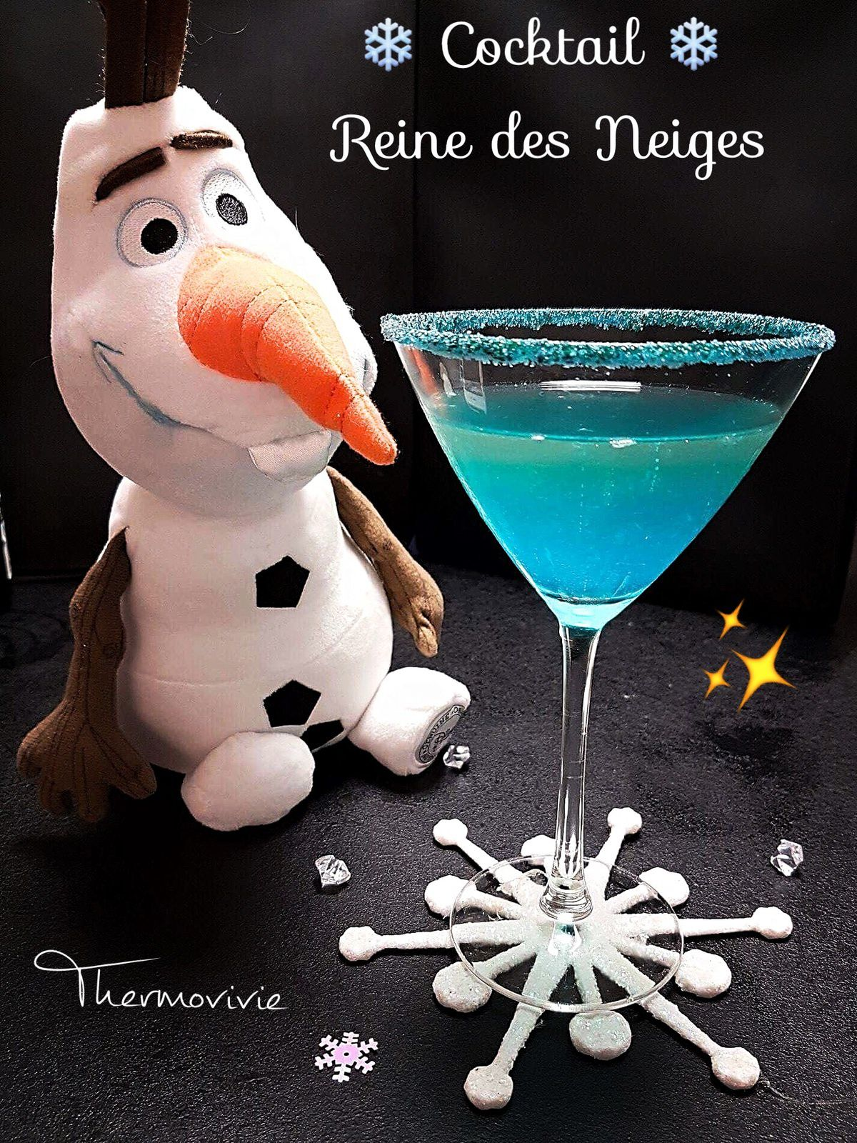 Cocktail de la reine des neiges