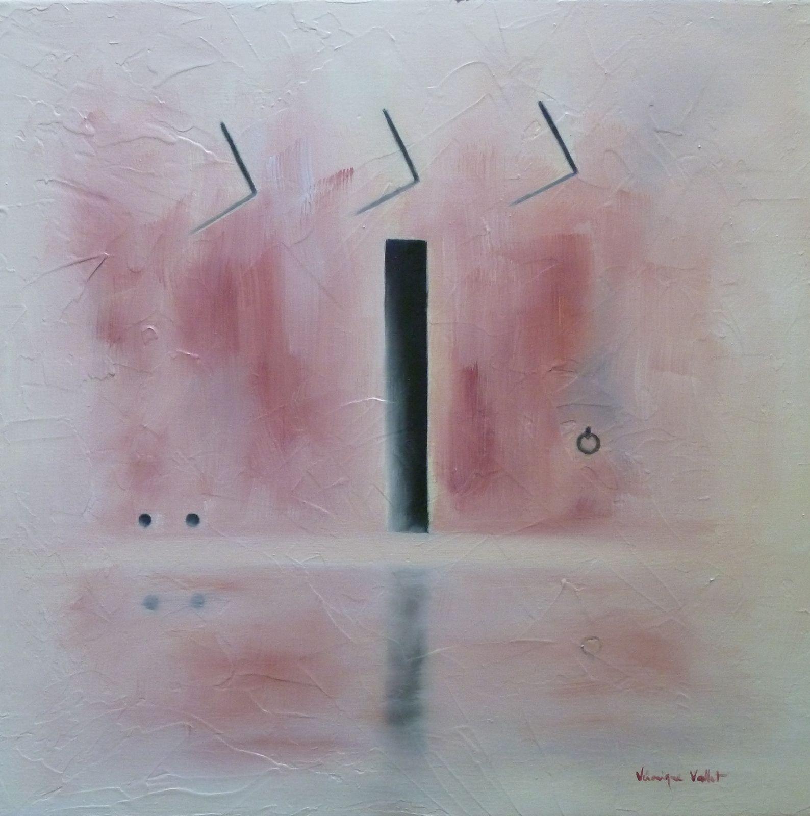Paysage de Mer, les amarres 10 -  Les Pommes, carré rouge - L'Illusion du Temps, Maintenant -