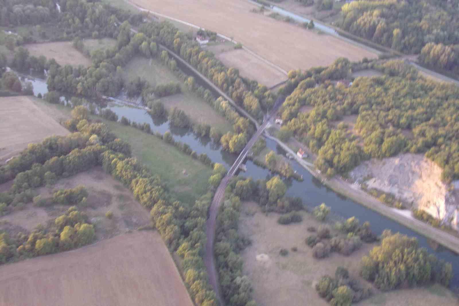Au dessus des méandres de l'Yonne (22 août 2018)