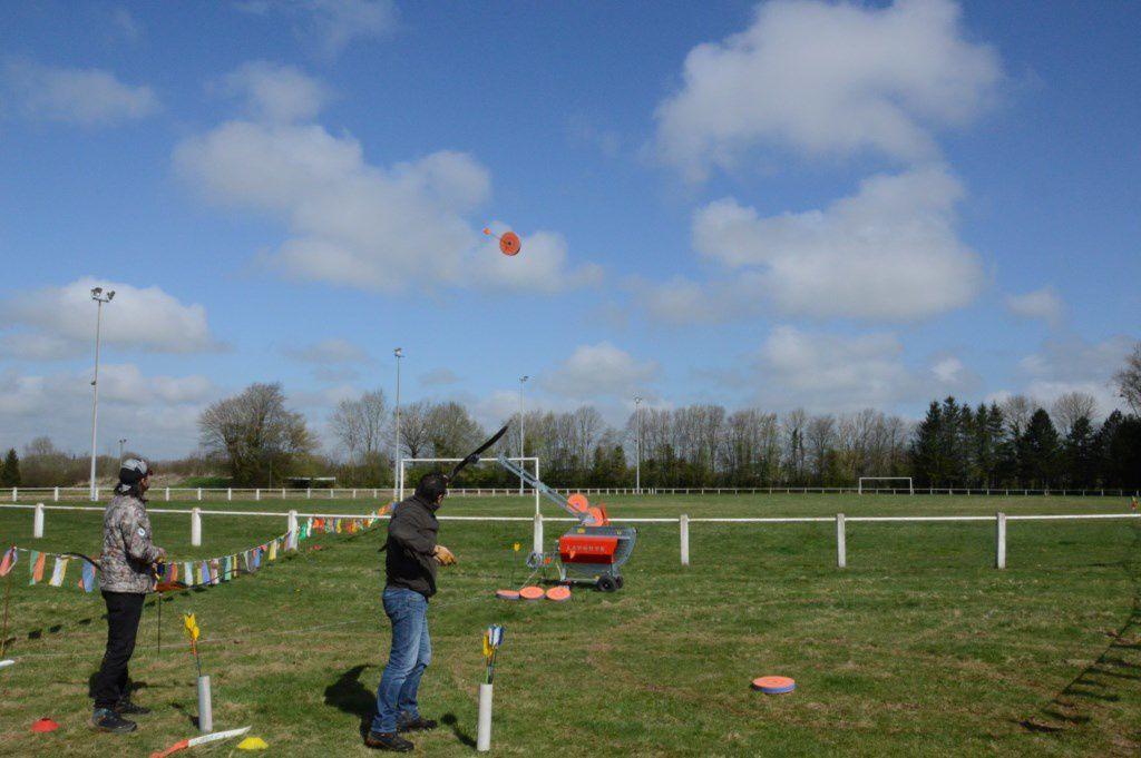 Premier entraînement à FEUQUIERES - Inauguration du lanceur (arctrap)