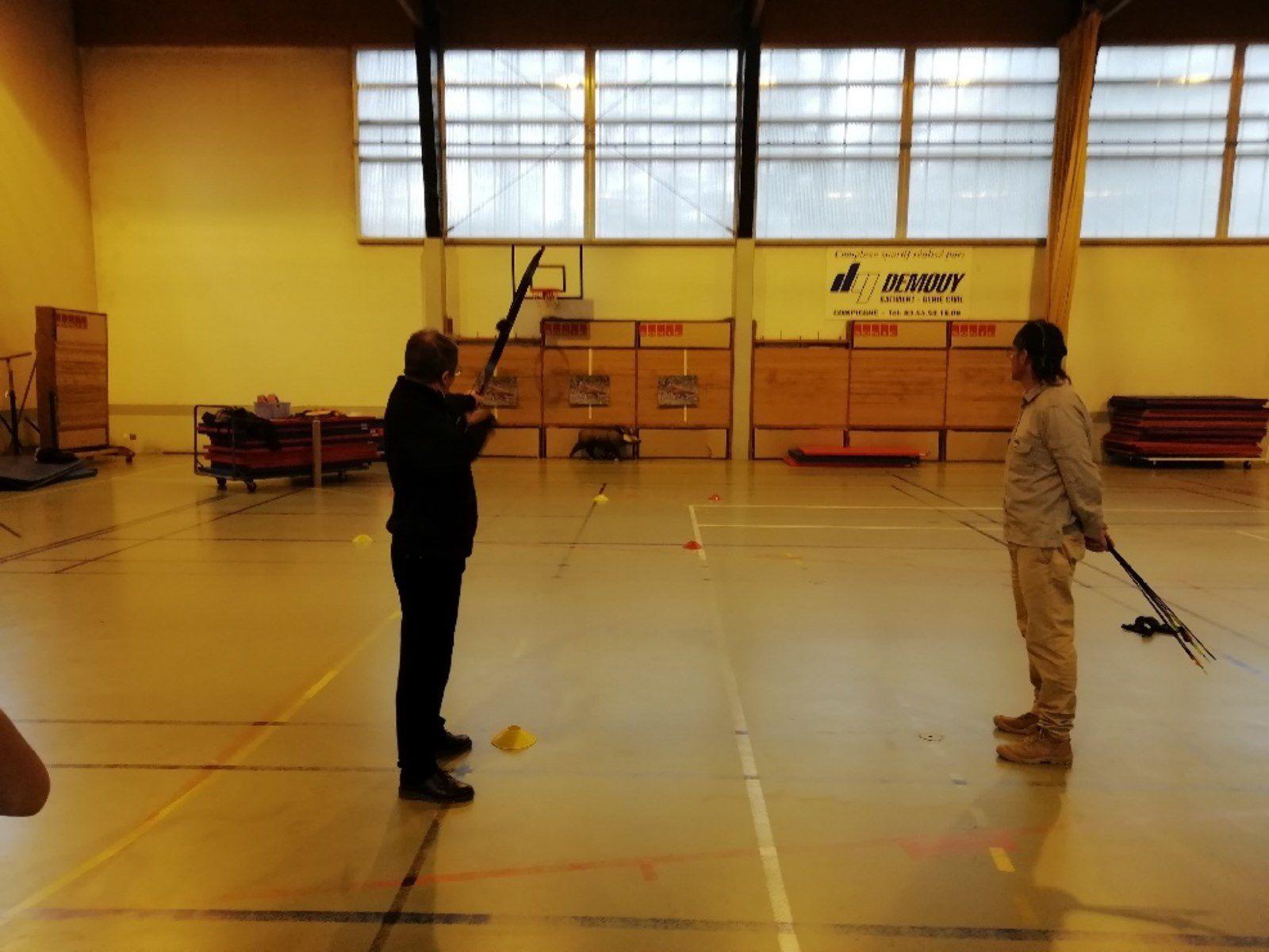 Les archers de l'ACAP au Lycée Jean Paul II à Compiègne