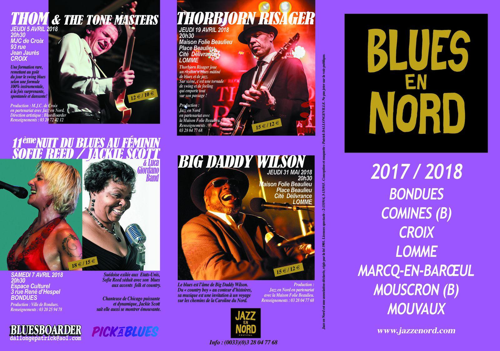 Playlist & podcast Tellin'you du 14/09/2017 - invité Patrick Dallongeville pour Blues en Nord - www.rqc.be