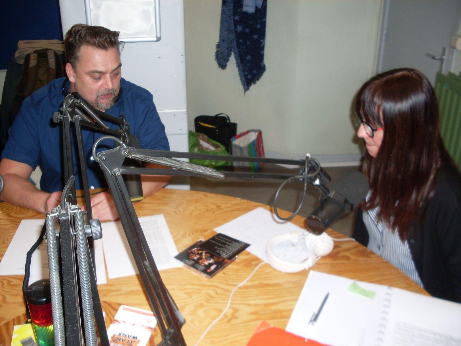 Eric et Marie en studio à RQC, Mouscron (B)