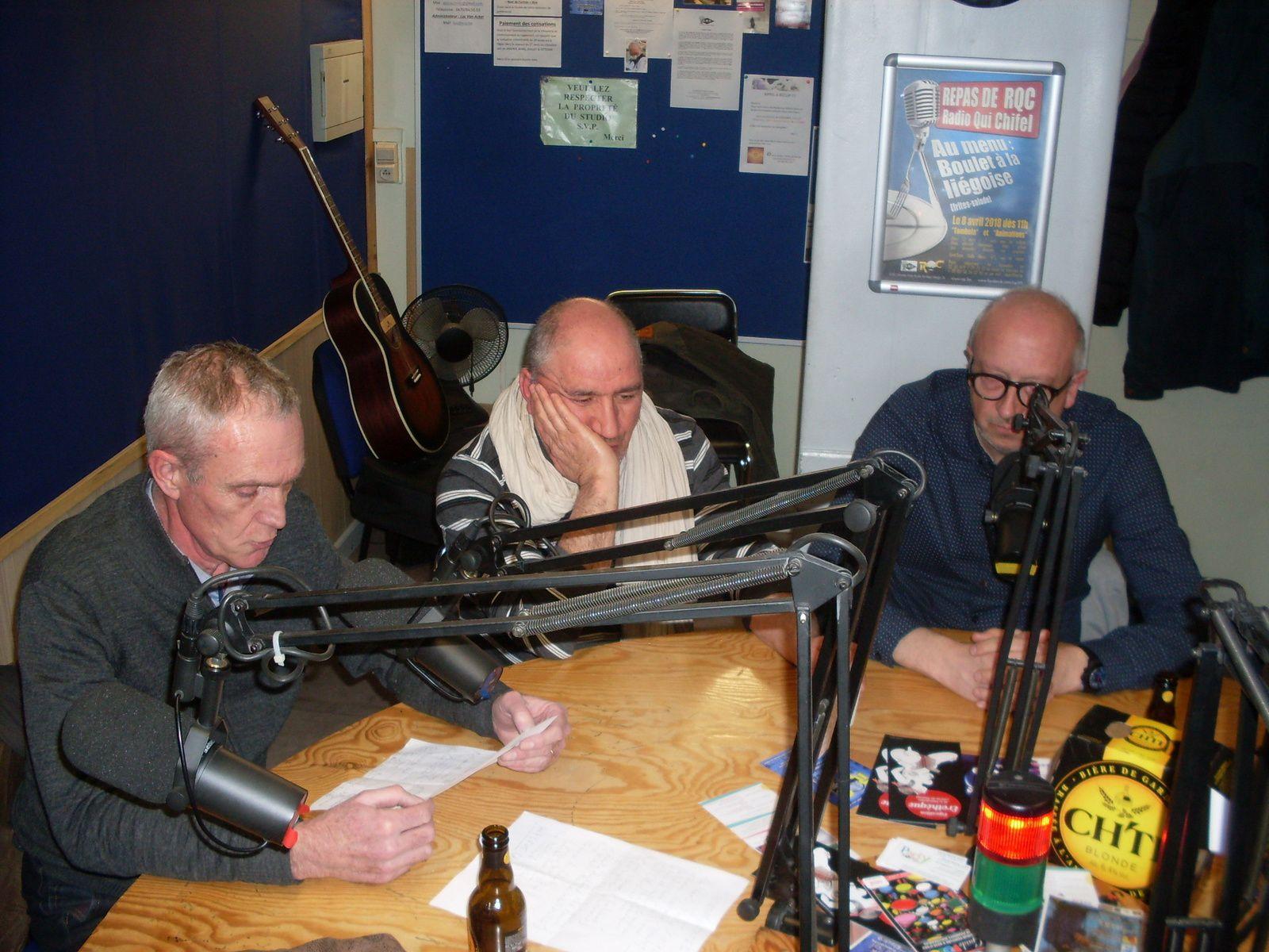 Marie et la fine équipe de Cambrai en studio à RQC, Mouscron (B)
