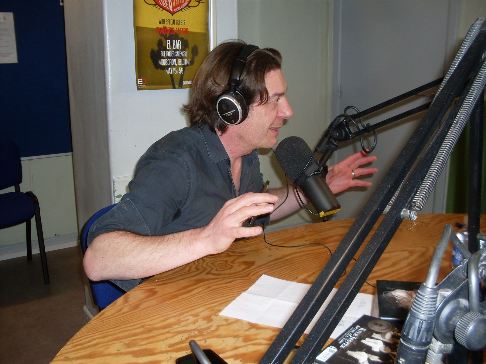 Stéphane et Marie en studio à RQC, Mouscron (B)