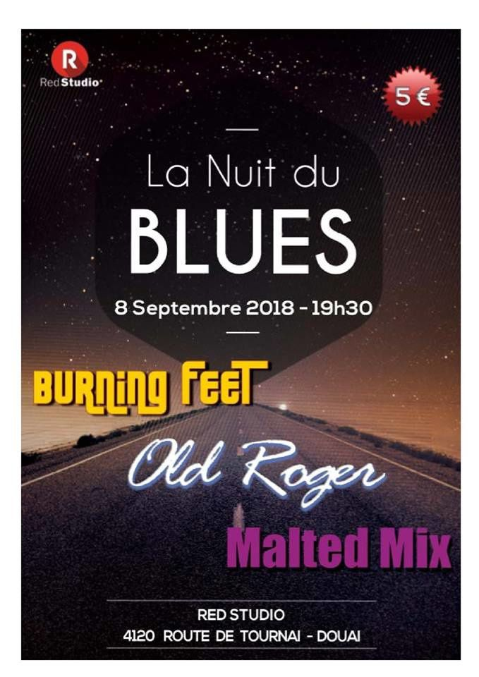Playlist & podcast Tellin'You – 23 août 2018 – invités Etienne et Hugues du Old Roger Blues band pour présenter la 1ère Nuit du Blues du Red Studio - www.rqc.be