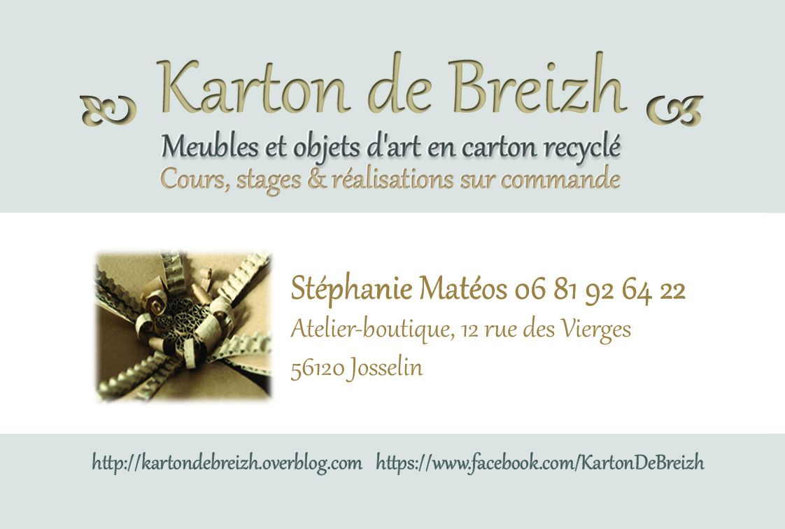 visiter l 39 atelier karton de breizh josselin karton de breizh. Black Bedroom Furniture Sets. Home Design Ideas