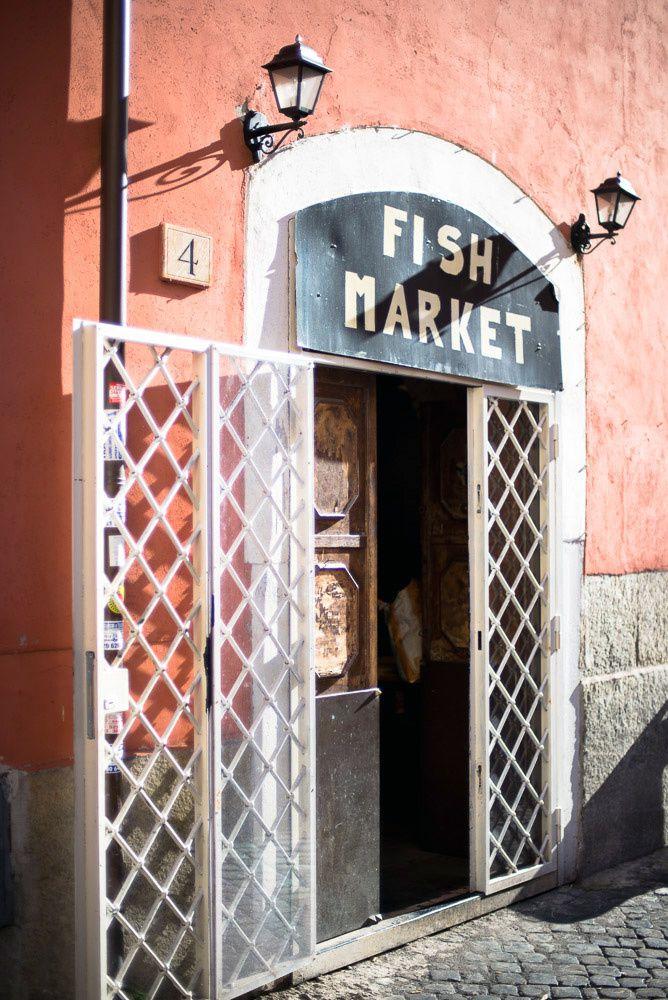 Fish Market in Rome Trastevere