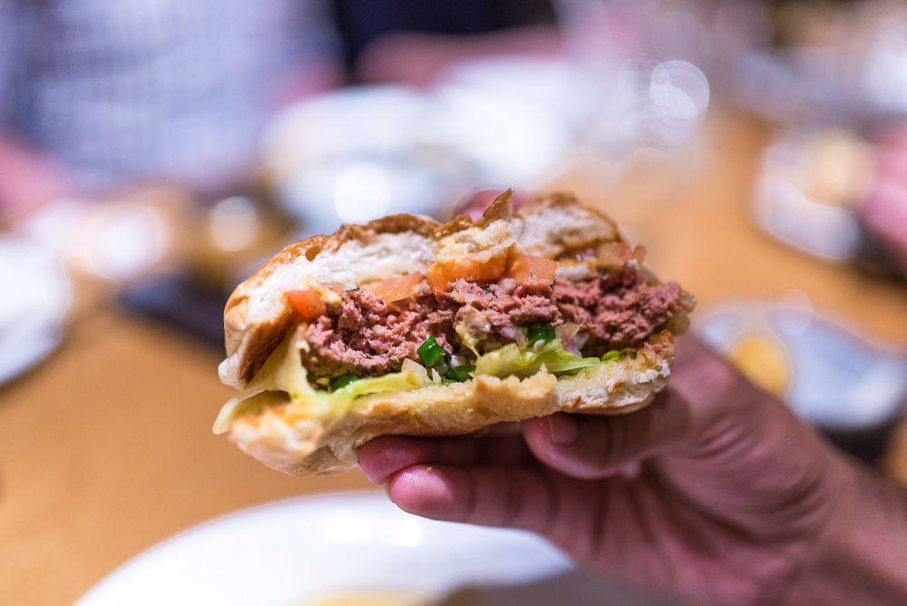 The Toddy Shop Burger at Roti Chai
