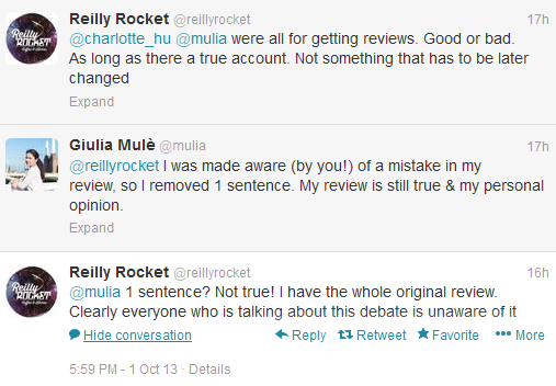 Setting the record straight: my Reilly Rocket review