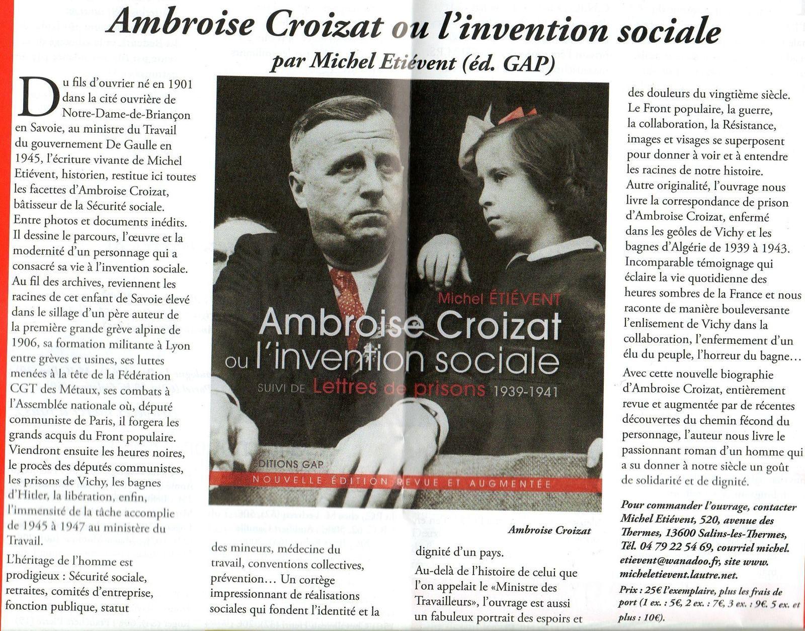 Ambroise Croizat .le créateur de la sécurité sociale