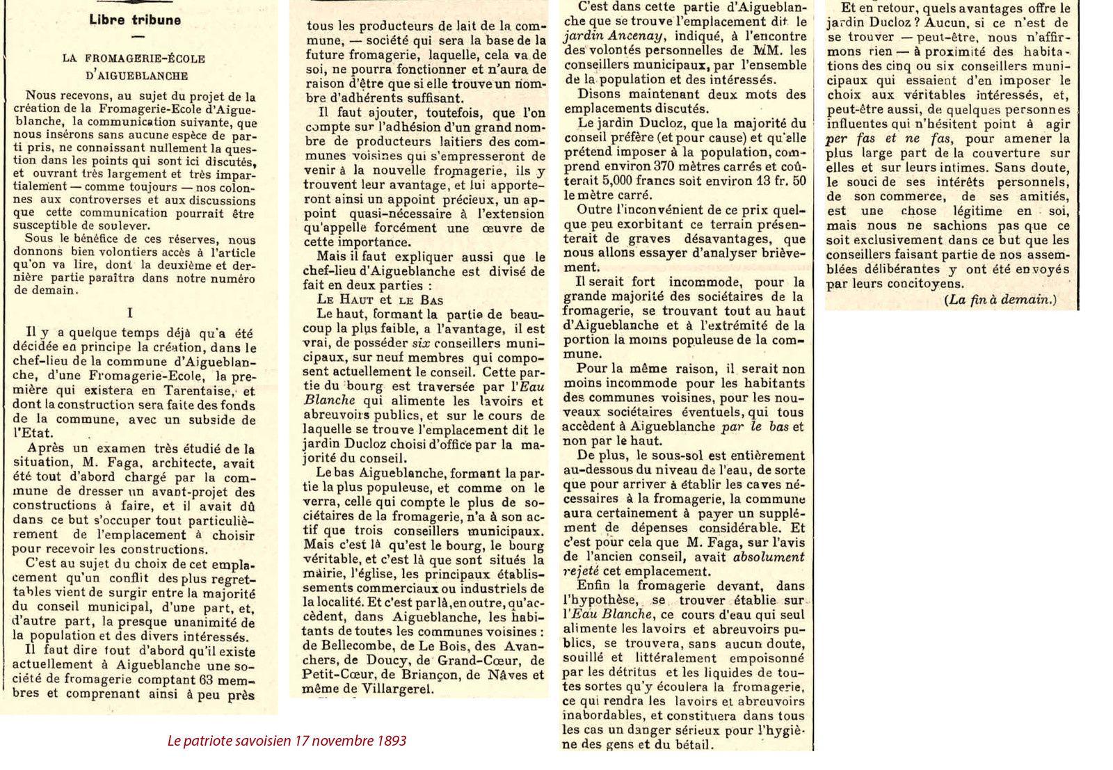 La Fromagerie d'Aigueblanche